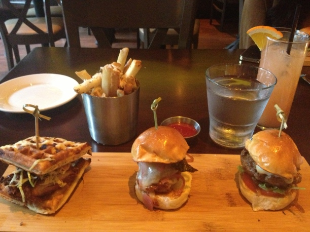 Chicken and Waffles, Porkbelly, Burger Sliders